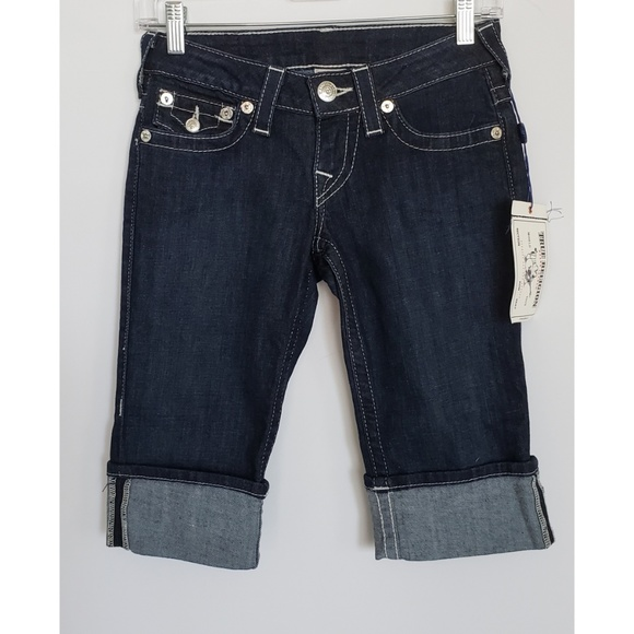 True Religion Pants - True Religion Knee Length Cuffed Shorts